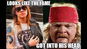 What Is An Exle Of A Meme - fat axl rose memes that made guns n roses leader angry youtube