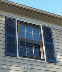 dark blue shutter with cream siding dream home pinterest