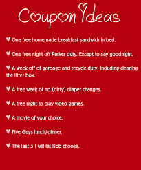all new diy valentines love coupons valentine