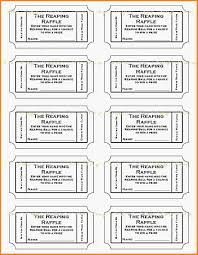 9 printable tickets template letter template word