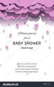 template invitation baby shower honoring vector stock vector