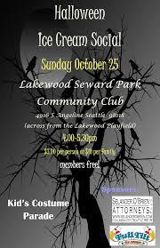 halloween ice cream social lakewood seward park community club