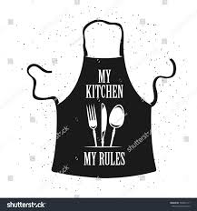 my kitchen my rules cooking related stock vector 504025171