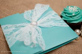 tiffany pocketfold wedding invitation suite with lace and