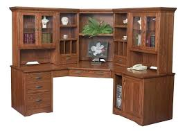 Computer Desk With Doors Furniture Large Wooden Computer Desk With Hutch Ideas