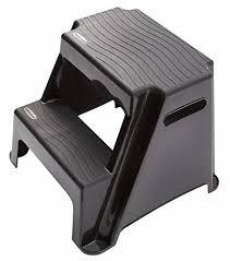 two step stool plastic non slip black portable stepping bathroom