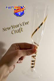 new years chagne flutes easy new year s craft partytime rentals