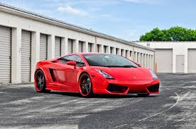 car lamborghini red lamborghini gallardo on cor focus concave wheels
