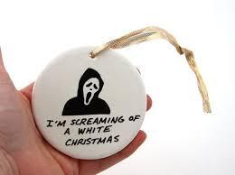 vh funny horror goth scream christmas ornament