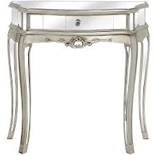 half moon console table with drawer argente mirrored half moon console table style our home