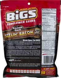 bacon sunflower seeds bigs bacon salt sizzlin bacon sunflower seeds 5 35 oz walmart