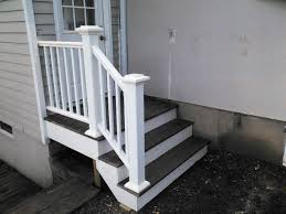 small and minimalist designed outside steps made with creative and