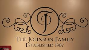 family surname wall decals family name with established year