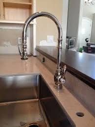 pewter kitchen faucet waterstone traditional pull faucet in antique pewter