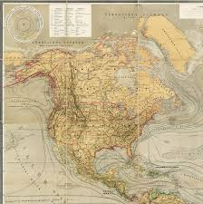America North And South Map by Magnificent Thematic Map Of North And South America Rare