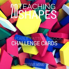 pattern blocks math activities 2d shape pattern block challenge cards challenge cards pattern