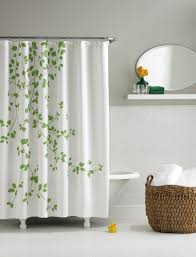 bathroom curtain ideas for shower bathroom white extra long shower curtains with leaves printed for