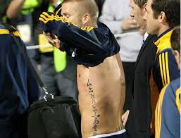 beckham tattoo in hong kong david beckham s new tattoo is chinese proverb who ate all the pies