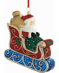 amazing deal on classic santa sleigh blown glass