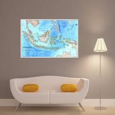 aliexpress com buy indonesia map quote canvas art print poster