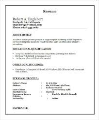Sample Resume For Computer Engineer by Sample Bpo Resume 5 Documents In Word Pdf