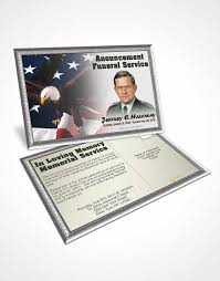 announcement card template 1st veterans day serenity