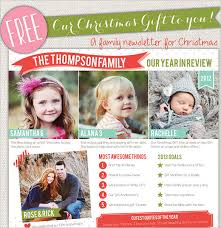 family newsletter template christmas newsletter template