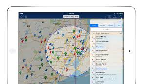 sales navigator app sales data mapping with route planning