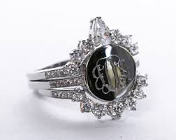 Monogrammed Silver Ring Ring Monogram Etsy