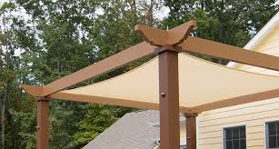 tensioned shade sail pergola canopy structureworks