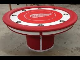 round custom poker tables with a sports theme youtube