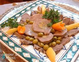 comment cuisiner la langue de boeuf tajine de langue de veau farcie cuisine à 4 mains