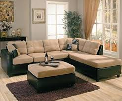 Amazon Com Sofas by Amazon Com Harlow Right L Shaped Two Tone Sectional Sofa By