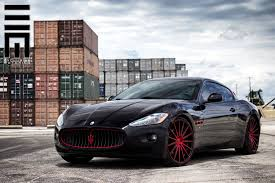 Show Stopper Gloss Black Maserati Granturismo With Contrasting Red
