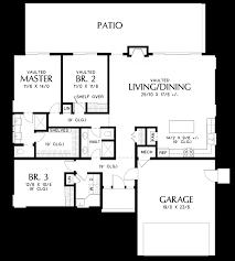 Cascade Floor Plan Mascord House Plan 1161b The Cascade Lake