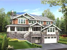 walkout basement home plans surprising idea hillside walkout basement house plans walk out