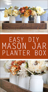 mason jar planter box centerpiece mason jar planter planters