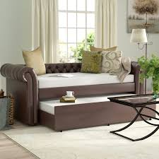 Leather Daybed With Trundle Trundle Daybeds You U0027ll Love Wayfair
