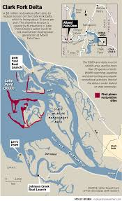 Delta Routes Map by Clark Fork Delta Restoration Continues With Planting The