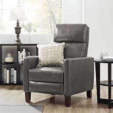 dorel living better homes and gardens adams pushback recliner gray