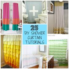 Regular Curtains As Shower Curtains 25 Diy Shower Curtain Tutorials Page 14 Of 26 Domestic