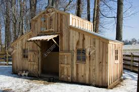 Small Barns A Small Homemade Barn Made Of Rough Cut Poplar Sits Among The