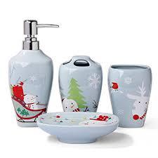 amazon com ceramic bathroom accessory set minigift 4 piece