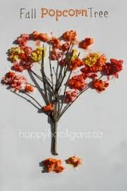 fall popcorn tree craft for preschoolers happy hooligans