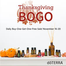 thanksgiving bogo 2015 doterra essential oils a s perspective