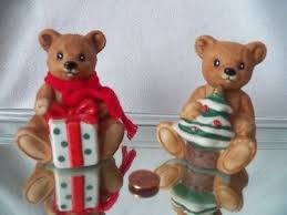 home interior bears 2 teddy bears homco home interior figurines 5505 puppy
