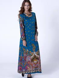 py22 hippy dress bohemian 70s style paisley long sleeve maxi dress