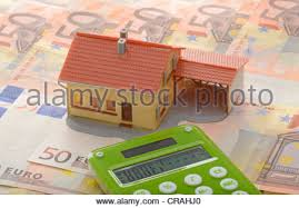 House With Carport Miniature House With Carport On 50 Euro Notes Symbolic Image For