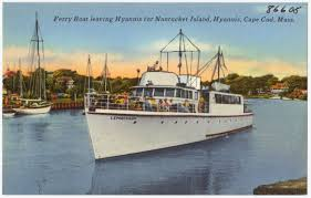 ferry boat leaving hyannis for nantucket island hyannis cape cod