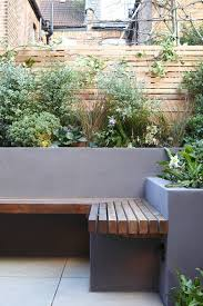Modern Garden Planters Garden Seating Rendered Wall Fence Garden Seat Gardens And